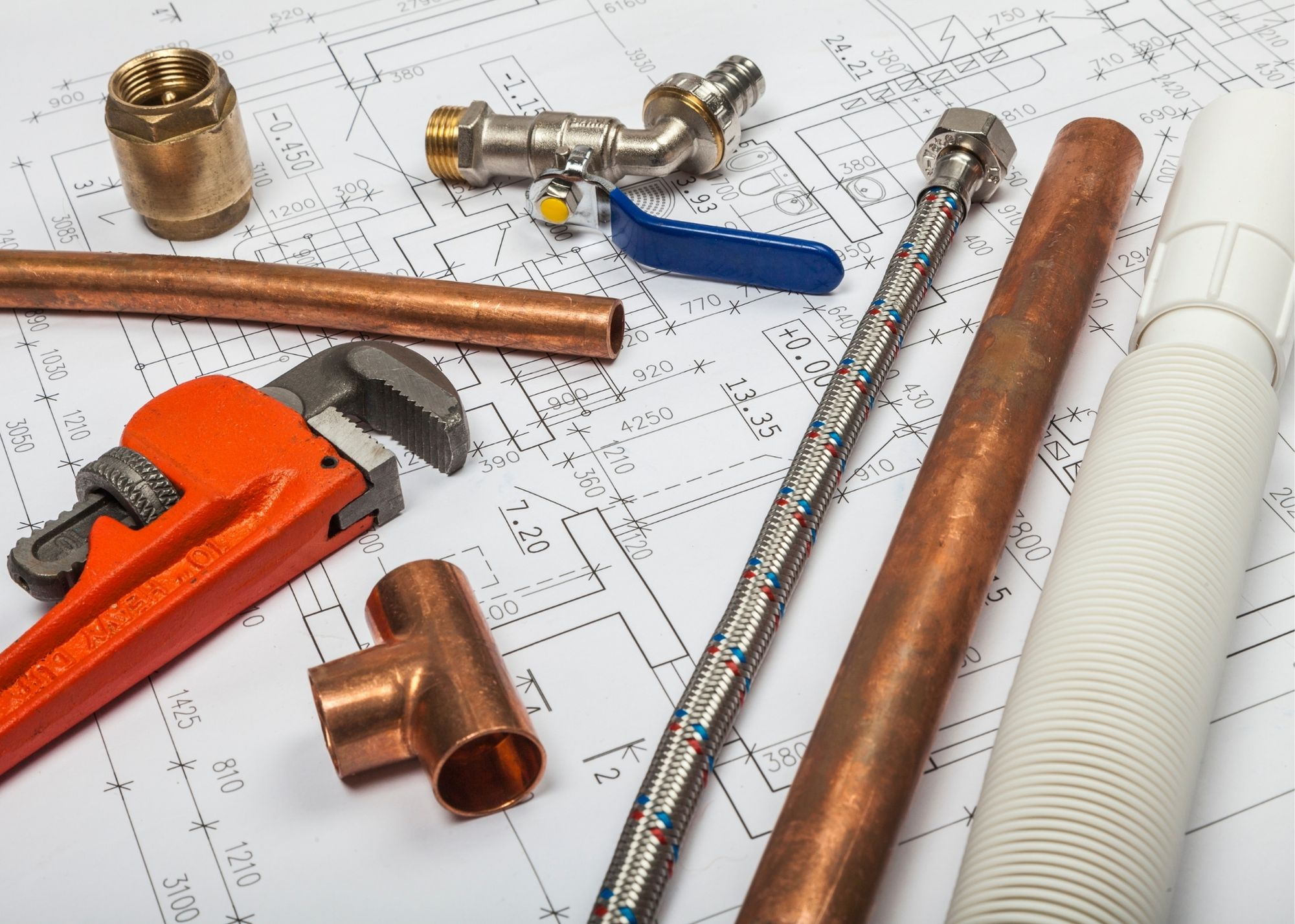 tools on a house plan